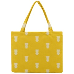 Waveform Disco Wahlin Retina White Yellow Vertical Mini Tote Bag by Mariart