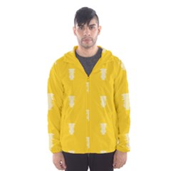 Waveform Disco Wahlin Retina White Yellow Vertical Hooded Wind Breaker (men) by Mariart