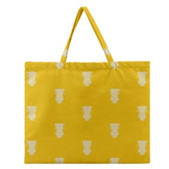 Waveform Disco Wahlin Retina White Yellow Vertical Zipper Large Tote Bag by Mariart