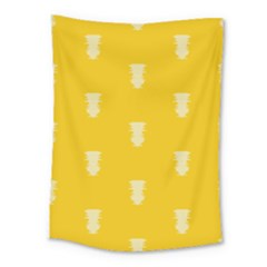 Waveform Disco Wahlin Retina White Yellow Vertical Medium Tapestry by Mariart