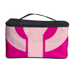 Women Safety Feminist Nail Strong Pink Circle Polka Cosmetic Storage Case by Mariart