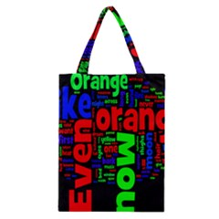 Writing Color Rainbow Classic Tote Bag by Mariart