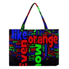 Writing Color Rainbow Medium Tote Bag by Mariart