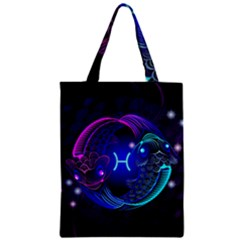 Sign Pisces Zodiac Zipper Classic Tote Bag by Mariart