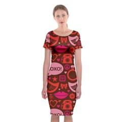 Xoxo! Classic Short Sleeve Midi Dress
