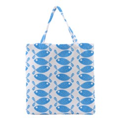 Fish Pattern Background Grocery Tote Bag by Nexatart