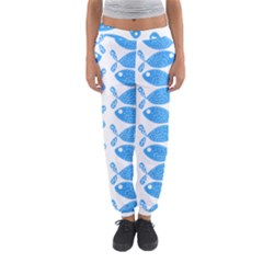 Fish Pattern Background Women s Jogger Sweatpants