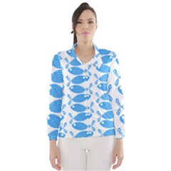 Fish Pattern Background Wind Breaker (women)