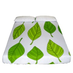 Spring Pattern Fitted Sheet (queen Size) by Nexatart