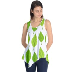 Spring Pattern Sleeveless Tunic