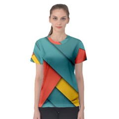 Color Schemes Material Design Wallpaper Women s Sport Mesh Tee