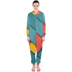 Color Schemes Material Design Wallpaper Hooded Jumpsuit (ladies)