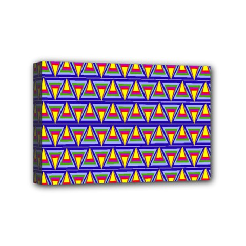 Seamless Prismatic Pythagorean Pattern Mini Canvas 6  X 4