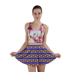 Seamless Prismatic Pythagorean Pattern Mini Skirt