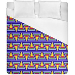 Seamless Prismatic Pythagorean Pattern Duvet Cover (california King Size)