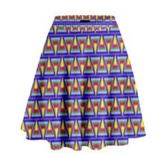 Seamless Prismatic Pythagorean Pattern High Waist Skirt