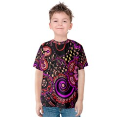 Sunset Floral Kids  Cotton Tee
