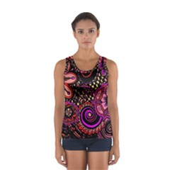 Sunset Floral Women s Sport Tank Top