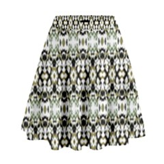 Abstract Camouflage High Waist Skirt by dflcprints