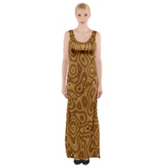Giraffe Remixed Maxi Thigh Split Dress