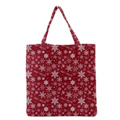 Merry Christmas Pattern Grocery Tote Bag by Nexatart
