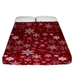 Merry Christmas Pattern Fitted Sheet (king Size) by Nexatart