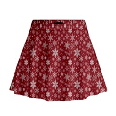 Merry Christmas Pattern Mini Flare Skirt