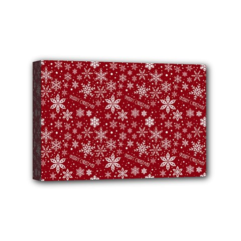 Merry Christmas Pattern Mini Canvas 6  X 4  by Nexatart