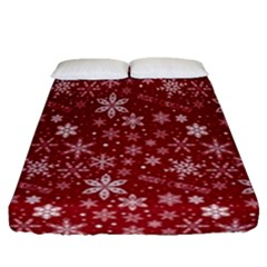 Merry Christmas Pattern Fitted Sheet (queen Size) by Nexatart