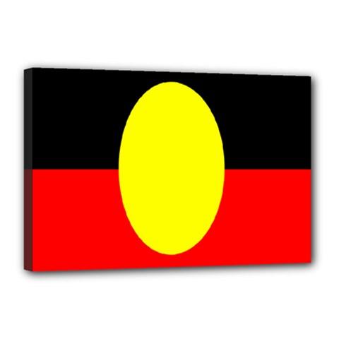 Flag Of Australian Aborigines Canvas 18  X 12