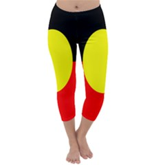 Flag Of Australian Aborigines Capri Winter Leggings