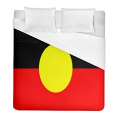 Flag Of Australian Aborigines Duvet Cover (full/ Double Size)