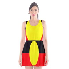 Flag Of Australian Aborigines Scoop Neck Skater Dress