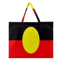 Flag Of Australian Aborigines Zipper Large Tote Bag by Nexatart