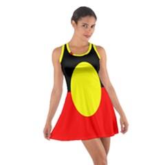 Flag Of Australian Aborigines Cotton Racerback Dress