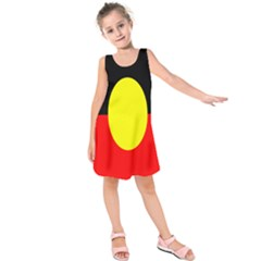 Flag Of Australian Aborigines Kids  Sleeveless Dress