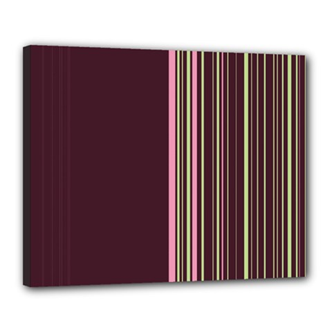 Lines Canvas 20  X 16  by ValentinaDesign