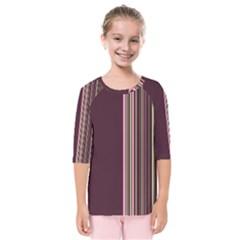 Lines Kids  Quarter Sleeve Raglan Tee by ValentinaDesign