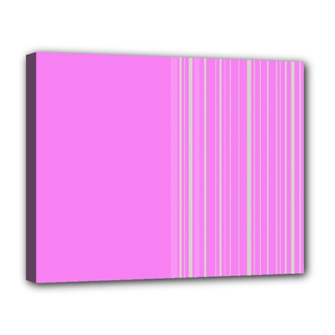 Lines Canvas 14  X 11  by ValentinaDesign