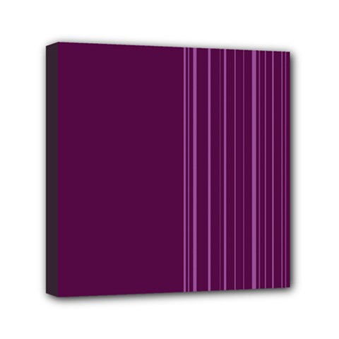 Lines Mini Canvas 6  X 6  by ValentinaDesign