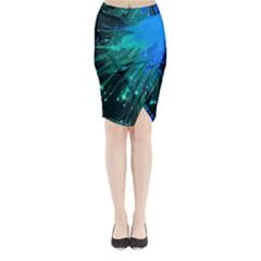 Big Bang Midi Wrap Pencil Skirt by ValentinaDesign
