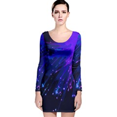 Big Bang Long Sleeve Velvet Bodycon Dress by ValentinaDesign