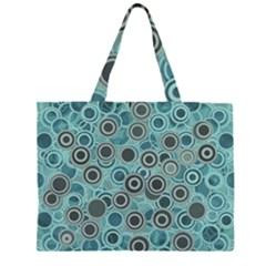 Abstract Aquatic Dream Zipper Large Tote Bag by Ivana