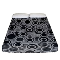 Abstract Grey End Of Day Fitted Sheet (queen Size) by Ivana