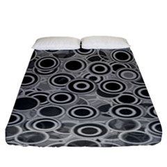 Abstract Grey End Of Day Fitted Sheet (king Size) by Ivana