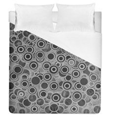 Abstract Grey End Of Day Duvet Cover (queen Size) by Ivana