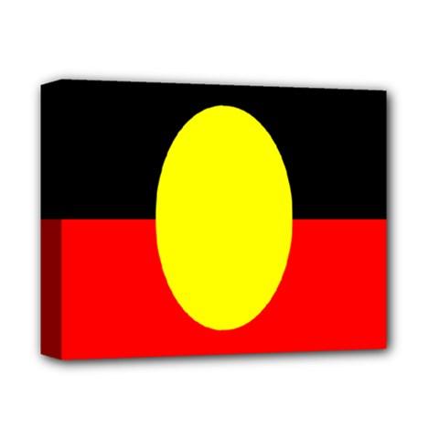 Flag Of Australian Aborigines Deluxe Canvas 14  X 11  by Nexatart