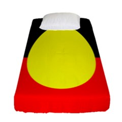 Flag Of Australian Aborigines Fitted Sheet (single Size)