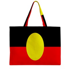 Flag Of Australian Aborigines Zipper Mini Tote Bag by Nexatart