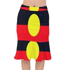 Flag Of Australian Aborigines Mermaid Skirt